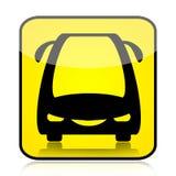 Signe moderne de bus Photographie stock libre de droits