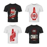 Signe moderne de logo de vecteur de boissons de bière de métier pour la barre, le bar, la brasserie ou la brasserie d'isolement s Photo libre de droits