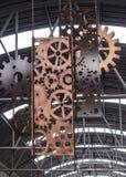 Signe moderne de trains Photo libre de droits