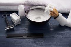 Signe moderne pour le raseur-coiffeur masculin image stock