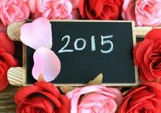 Signe montrant l'année 2015 Photos stock