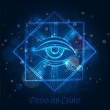 Signe mystique de maçon avec l'oeil illustration de vecteur