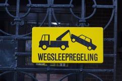 Signe néerlandais de stationnement interdit Images libres de droits