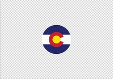 Signe national de symbole d'état de drapeau du Colorado illustration libre de droits