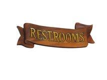 Signe nautique de toilettes en bois Photographie stock libre de droits
