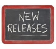 Signe neuf de tableau noir de versions Image libre de droits
