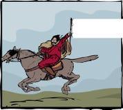 Signe nomade de cavalier Photo libre de droits