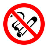 Signe non-fumeurs Photo libre de droits