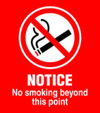 Signe non-fumeurs Photo stock