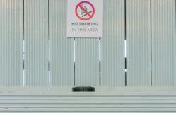 Signe non-fumeurs avec le cendrier photo libre de droits