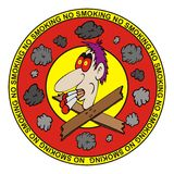Signe non-fumeurs d'illustration illustration stock