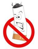 Signe non-fumeurs de dessin animé Photographie stock