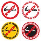 Signe non-fumeurs des textes Image stock
