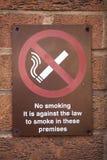 Signe non-fumeurs sur la rue Images libres de droits