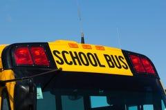 Signe nord-américain d'autobus scolaire Photo stock