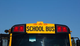 Signe nord-américain d'autobus scolaire images stock