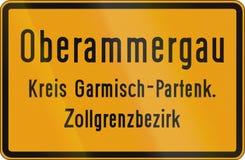 Signe Oberammergau de ville illustration de vecteur