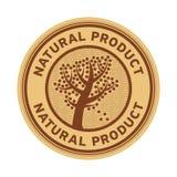Signe ou label avec le produit naturel des textes illustration libre de droits