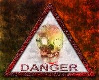 Signe ou symbole de crâne de danger Photographie stock libre de droits