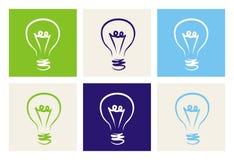 Signe ou symbole de pouvoir créatif d'invention ou d'écologie Image stock