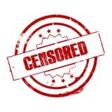 Signe ou timbre censuré illustration libre de droits