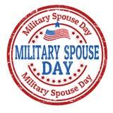 Signe ou timbre militaire de jour de conjoint illustration de vecteur