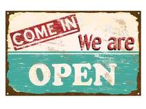 Signe ouvert d'émail de boutique Image stock