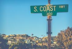Signe Pacifique de route Photos libres de droits