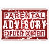 Signe parental de panneau indicateur Image libre de droits
