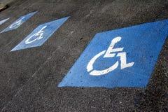 Signe - parking pour le fauteuil roulant Photographie stock libre de droits