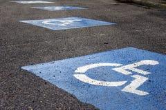 Signe - parking pour le fauteuil roulant Images stock