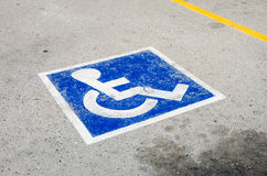 Signe - parking pour le fauteuil roulant Images libres de droits