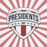 Signe patriotique de bouclier de vecteur des Présidents Day grand Image stock