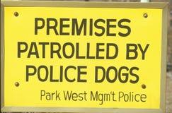 Signe : Patrouille de sécurité Image libre de droits