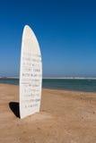 Signe pour des surfers de cerf-volant Images stock