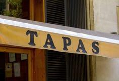 Signe pour des Tapas image stock