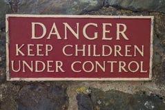 Signe pour des visiteurs de château Photo libre de droits