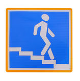 Signe pour un passage souterrain piétonnier d'isolement Photo stock