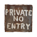 Signe privé Photos libres de droits