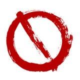 Signe prohibitif grunge de vecteur d'isolement sur le blanc Icône d'avertissement de restriction illustration de vecteur