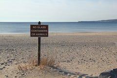 Signe public de plage Image stock