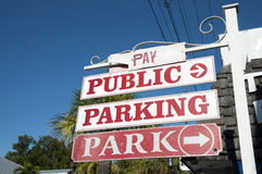 Signe public de stationnement Image libre de droits