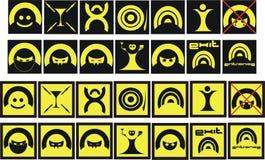 Signe réglé - symboles Photographie stock libre de droits