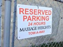 Signe réservé de stationnement Image stock