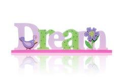 Signe rêveur coloré Photographie stock libre de droits