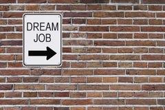 Signe rêveur du travail Photo libre de droits