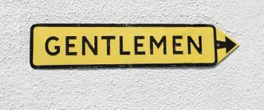 Signe R-U de toilette de messieurs photos libres de droits