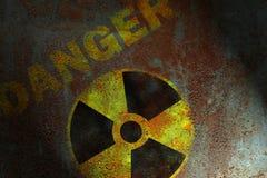 Signe radioactif photos libres de droits