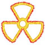 signe radioactif ardemment tracé les grandes lignes illustration de vecteur