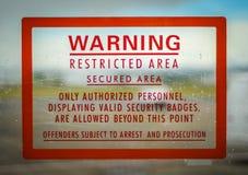 Signe restreint d'Access Photographie stock